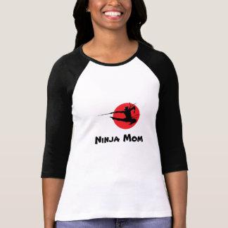 Ninja Mom Ladies Long Sleeve Baseball Tee