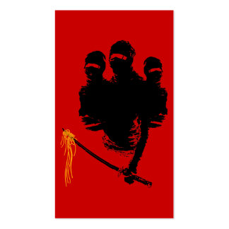 ninja noodles business card template