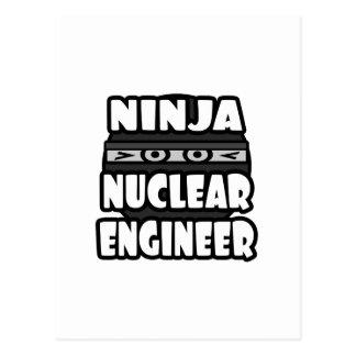 Ninja Nuclear Engineer Postcard