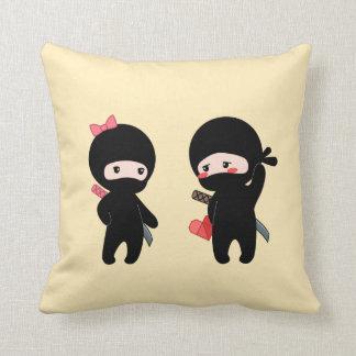 Ninja Pair, a Boy and a Girl Cushion