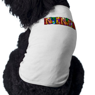 NINJA ~ PERSONALIZED BIG LETTER PET-WARE FOR DOGS! SLEEVELESS DOG SHIRT