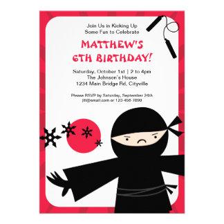 Ninja Power Red Invitation