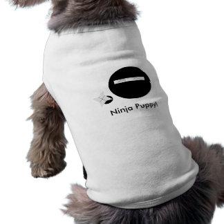 Ninja Puppy! Sleeveless Dog Shirt