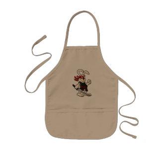 ninja rabbit cartoon kids apron