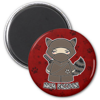 Ninja Raccoon! In Red Magnet