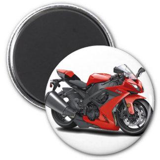 Ninja Red Bike Magnet