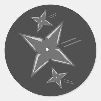 Ninja Stars Classic Round Sticker