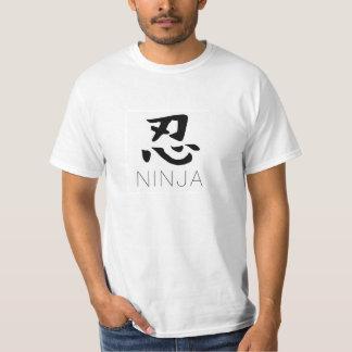 Ninja T-shirt: kanji Tees