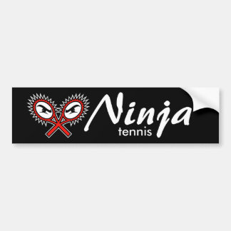 ninja tennis bumper sticker