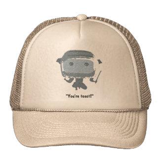 "Ninja Toaster, ""You're toast!"" Mesh Hat"