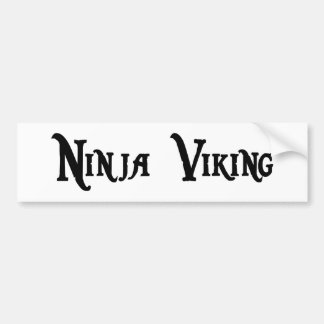 Ninja Viking Bumper Sticker