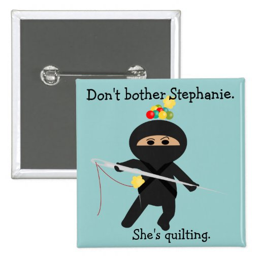 Ninja with Sewing Needle Pin