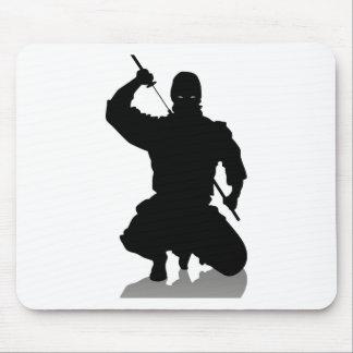 Ninja with Sword Mouse Pad