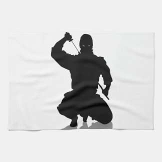 Ninja with Sword Tea Towel