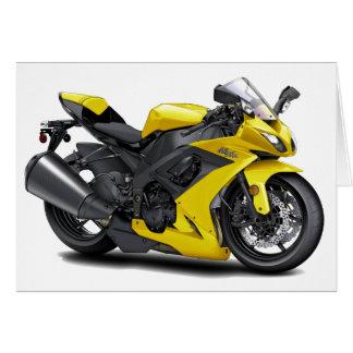 Ninja Yellow Bike Card