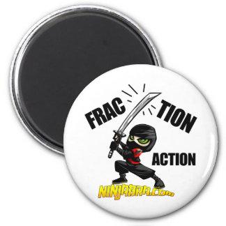 "Ninjabra - Wasabi ""Fraction Action"" 6 Cm Round Magnet"