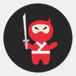 NinjaCutie10 Round Stickers