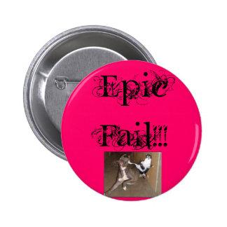 ninjakittycat, Epic Fail!!! 6 Cm Round Badge