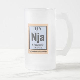 Ninjanese Frosted Glass Mug