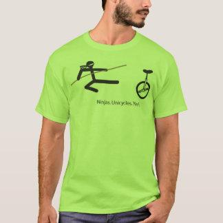 """Ninjas. Unicycles. Yeah."" Shirt in Lime."