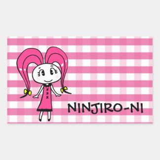 ninjironisutetsuka rectangular sticker