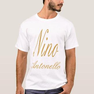 Nino Antonello Gold Fancy Writing T-Shirt