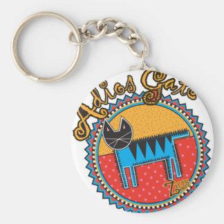 Niños Adios Gato Basic Round Button Key Ring
