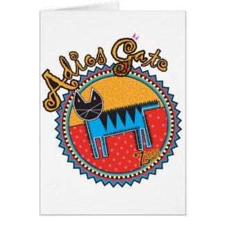 Niños Adios Gato Card