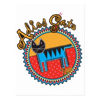 Niños Adios Gato Postcard