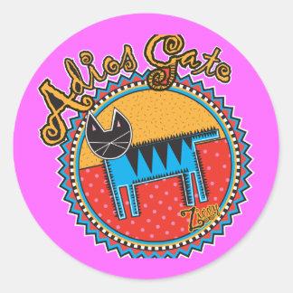 Niños Adios Gato Round Sticker