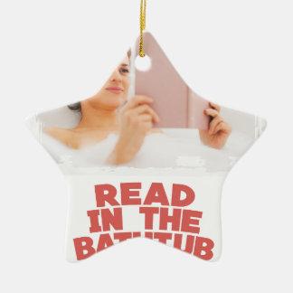 Ninth February - Read In The Bathtub Day Ceramic Ornament