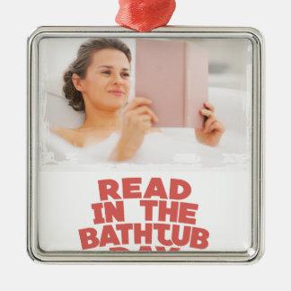 Ninth February - Read In The Bathtub Day Metal Ornament