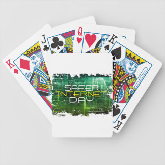 Ninth February - Safer Internet Day Bicycle Playing Cards