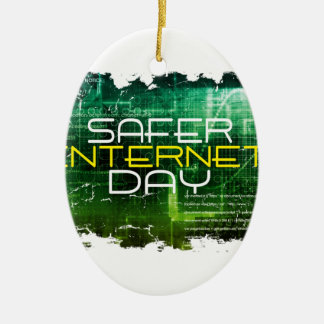 Ninth February - Safer Internet Day Ceramic Ornament