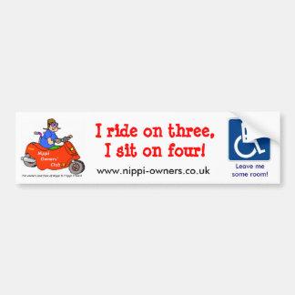 Nippi Owners' Club Trike Sticker Bumper Sticker
