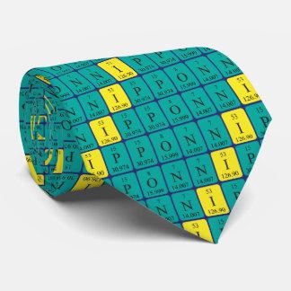 Nippon periodic table patriotic tie 8