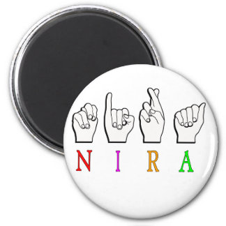 NIRA FINGERSPELLED ASL NAME SIGN MAGNET