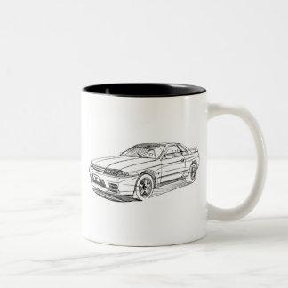 Nis Skyline GTR R32 Two-Tone Mug