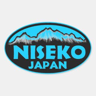 Niseko Japan blue oval stickers