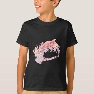 Nishikigoi Koi Jumping Waves Drawing T-Shirt