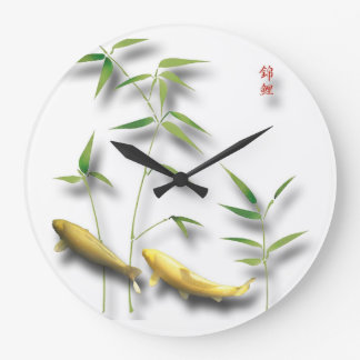 Nishikigoi wall watches large clock
