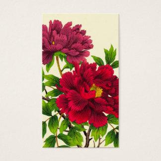 Nishimura Hodo Peony japanese flowers fine art Business Card
