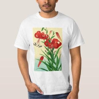 Nishimura Hodo Tiger Lilies Shin Hanga Flowers T-Shirt