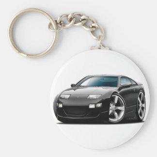 Nissan 300ZX Black Car Basic Round Button Key Ring