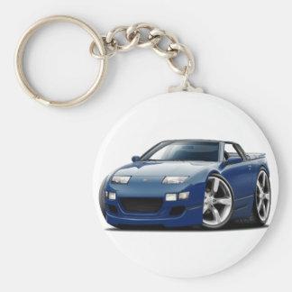 Nissan 300ZX Dk Blue Convertible Basic Round Button Key Ring