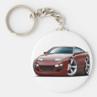 Nissan 300ZX Maroon Car Basic Round Button Key Ring