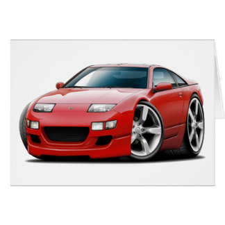 Nissan 300ZX Red Car Card