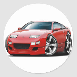 Nissan 300ZX Red Car Classic Round Sticker
