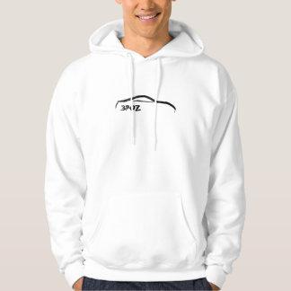 Nissan 370z black brush stroke Logo Hoodie