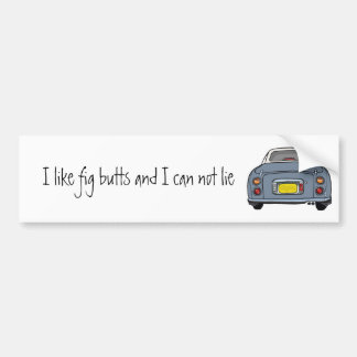Nissan Figaro - Lapis Grey - Bumper Sticker